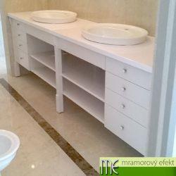 Waschtischplatte, installiert bei unserem Kunde in Prag