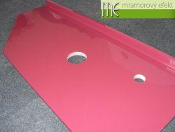 Waschtischplatte in die Nische - RAL 4002 Rotviolett
