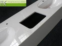 Massive Waschtische Flexible 60 mit Löcher für Handtrockner
