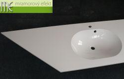 Doppelwaschtisch Flexible 60 mit schräger Ecke_219,5 x 55cm_2x Waschbecken Mango