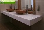 Waschtischplatte unter Aufsatzwaschbecken