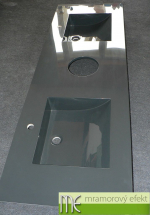 M.E. sro_Doppelwaschtisch Flexible60_anthrazitgrau RAL 7016_2 Massive 42x37cm Becken_Handtuecherloch