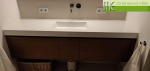 ME sro_Waschtisch nach Mass_Flexible60_1 DAKOTA Becken_Foto von unserem Kunde bei München_vor und nach der Installation des Waschtisches