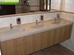 Staatsschloss Sychrov - Waschtischen Flexible47 mit FJORD50 Ovalbecken, Granit Butterscotch