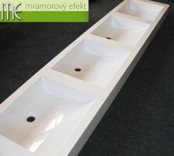 Vierbecken Waschtisch mit eckigen Massive 42 Waschbecken für unseren Kunde aus Prag
