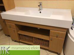 Waschtisch mit eckigem Becken DAKOTA52 - ein Foto von unserem Kunde