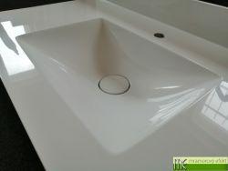 Flaches Waschtisch auf den Badschrank mit POLAR50 Waschbecken