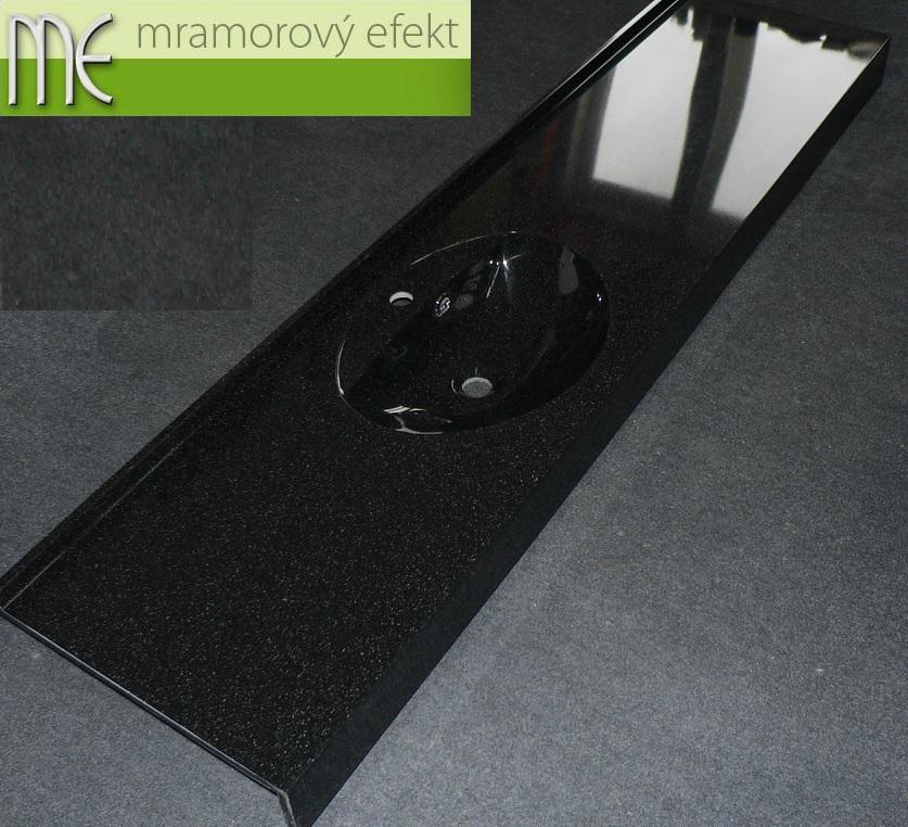 Waschtisch Flexible 47, Granit Obsidian, Ovalbecken Fjord50