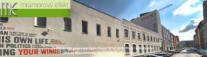 Zentrum der gegenwärtigen Kunst NEW DOX, Prag - Holešovice   weisse Waschrinnen Flexible60 in die Nischen
